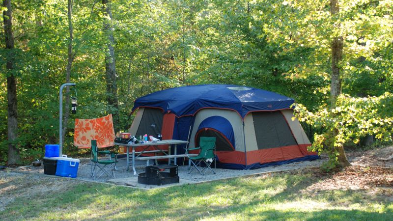 Camping at Medoc Mountain